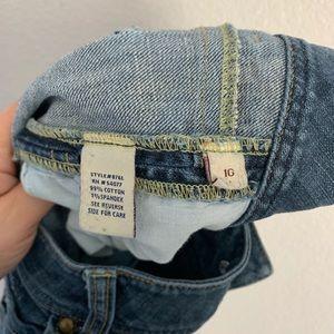 CAbi Jeans - CAbi | medium wash straight jean distressing 10